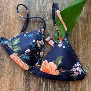 Floral TRIANGL Bikini Top Sz Small